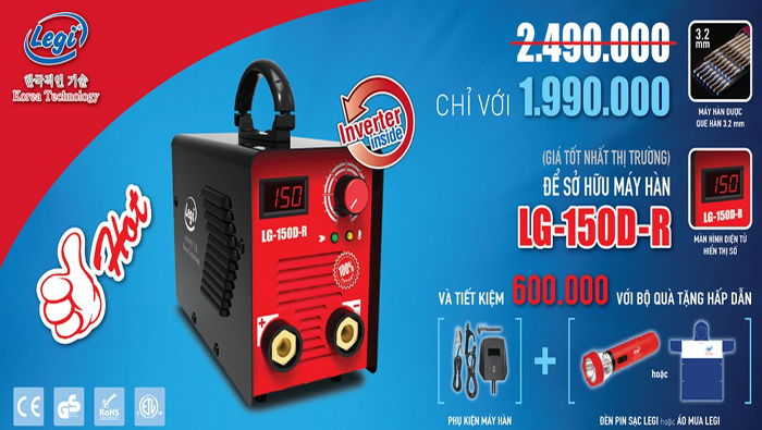 Mua bán Máy hàn điện tử Legi Hàn Quốc, Máy hàn que mini gia đình giá tốt nhất tại TpHCM