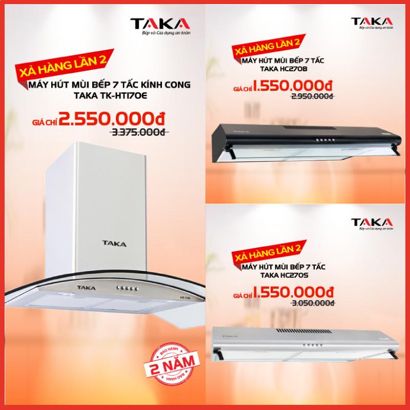 Máy hút mùi bếp TAKA mở bán khuyến mãi