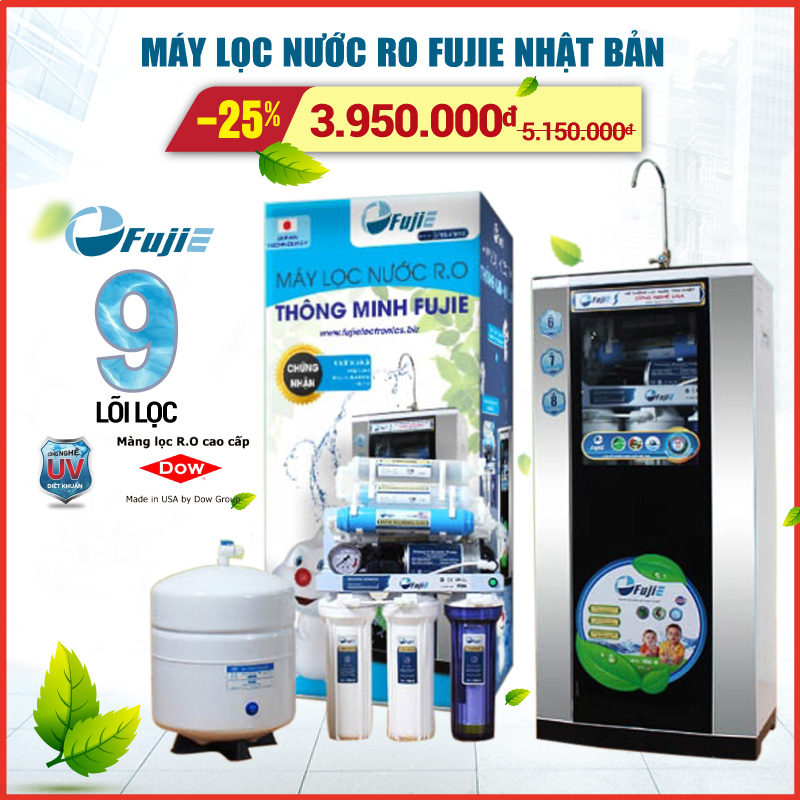 Giá Máy lọc nước RO gia đình Fujie khuyến mãi