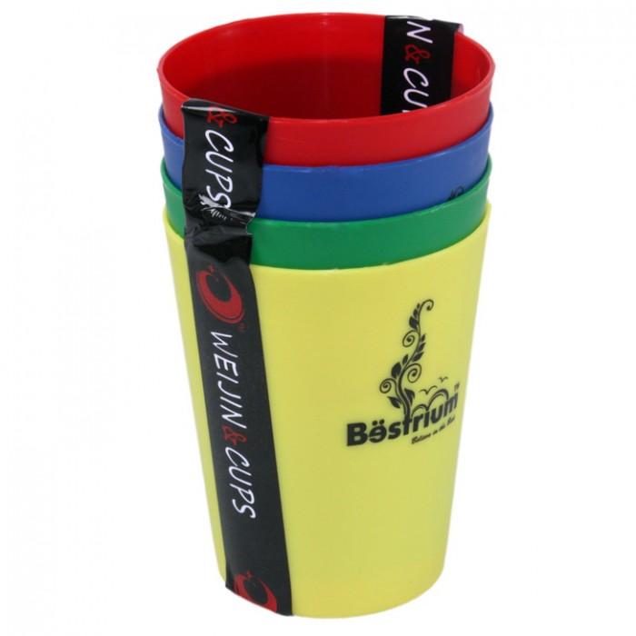 Combo Bộ ly nhựa 4 cái sắc màu
