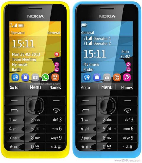 Điện thoại Nokia 301 - Vàng 2 SIM