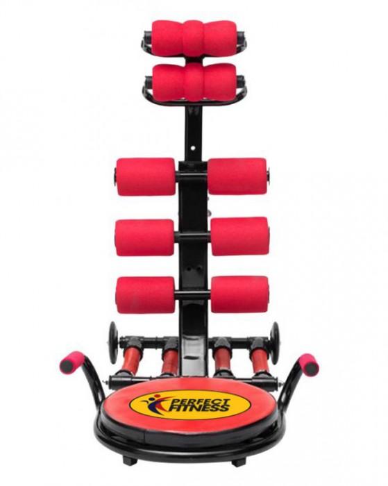 Máy tập cơ bụng Perfect Fitness xoay eo 4 lò xo PFX4
