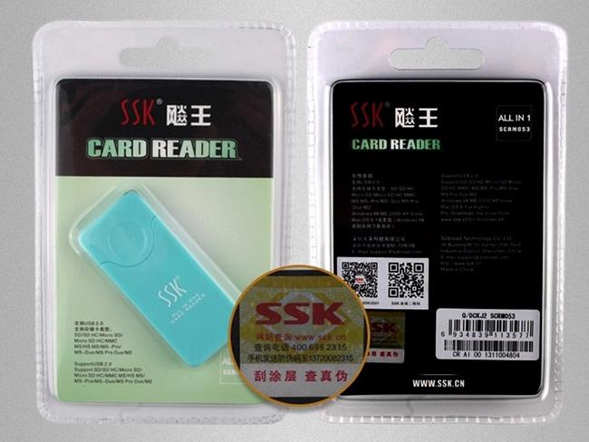 Đầu đọc thẻ nhớ đa năng SSK SCRM 053