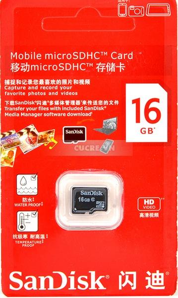 Thẻ Nhớ SanDisk MicroSD Class 4 SDSDQM-016G