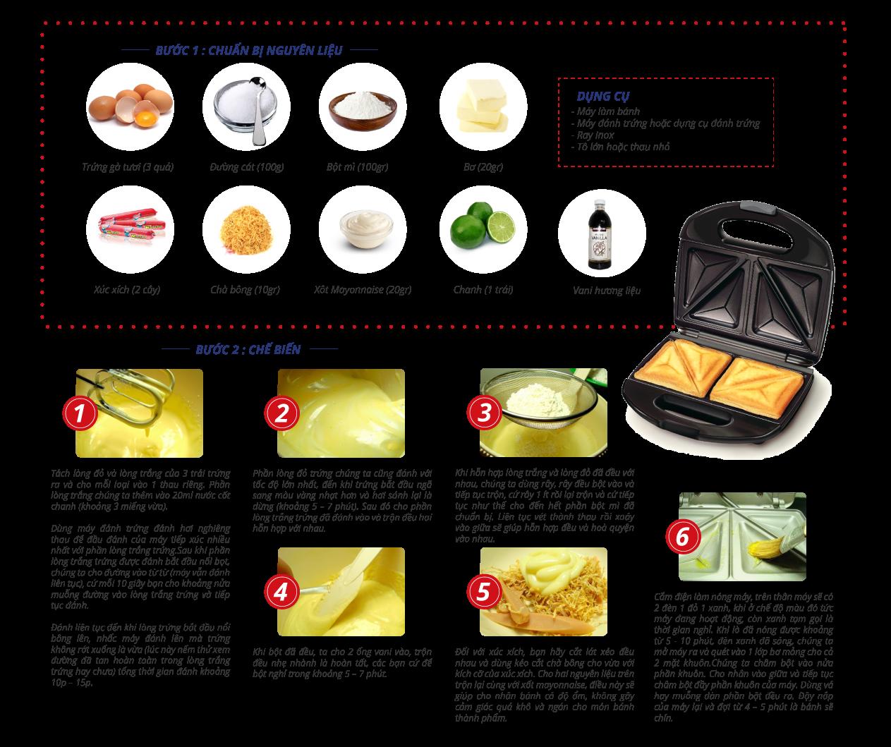 Cách làm bánh hot dog