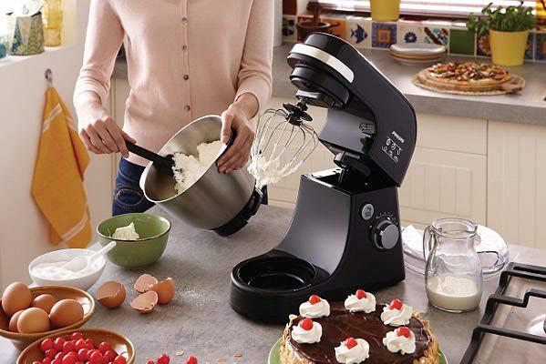 Máy đánh trứng trộn bột đánh kem để bàn có tô