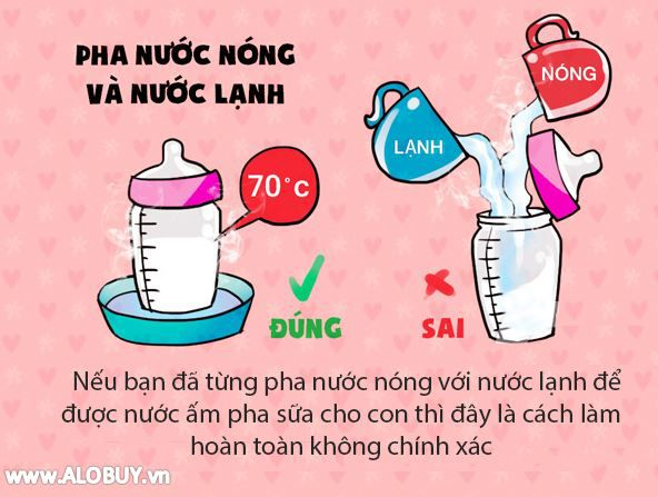 4 sai lầm dễ gặp khi mẹ pha sữa cho con