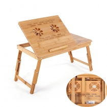 Bàn gỗ Laptop có quạt tản nhiệt Beaucoup Bambo