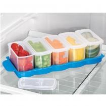 Bộ 5 hộp bảo quản thực phẩm tủ lạnh có nắp Tashuan TS-3197