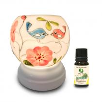 Đèn xông tinh dầu gốm Bát Tràng - Love Bird
