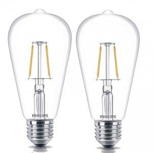 Bộ 2 bóng đèn Philips LED Fila 7.5W đuôi E27 ST64 (Ánh sáng vàng)