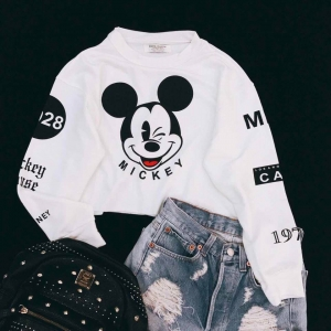 Áo Croptop Hình Mickey Leta Belita A336