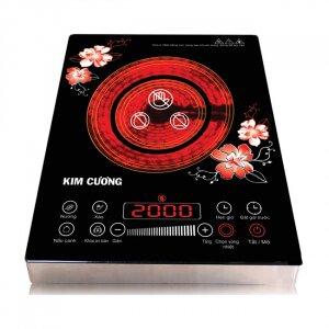 Bếp hồng ngoại thân inox 2 vòng nhiệt Kim Cương YT-20D (BHNLUOT)