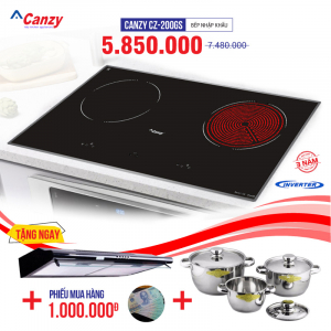 Bếp từ đôi hồng ngoại cảm ứng CANZY CZ-200GS