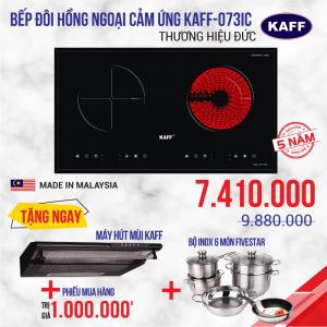 Bếp từ đôi hồng ngoại cảm ứng KAFF KF-073IC
