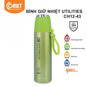 Bình giữ nhiệt Utilities 450ml Comet CH12-43 - Xanh Lá