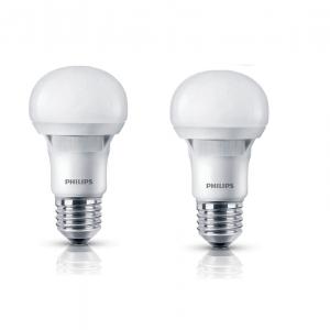 Bộ 2 bóng đèn Philips Ecobright LEDBulb 8-100W E27 3000K A60 ( Ánh sáng vàng)
