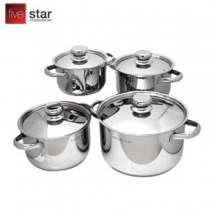 Bộ 4 nồi inox cao cấp Karat Fivestar FS08CK