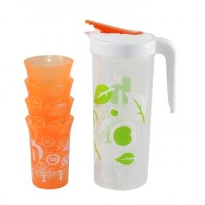 Bộ bình nhựa có 4 ly Homio