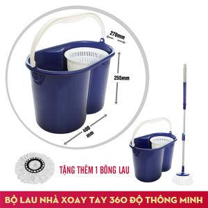 Bộ lau sàn xoay tay 360 độ Fujishi Mop Smart FJ-360RN + Tặng 01 Bông Lau