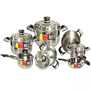 Bộ nồi 7 món inox 3 đáy German GM-B7GMY