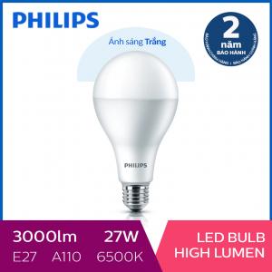 Bóng đèn Philips LED công suất cao 27W 6500K E27 A110 - Ánh sáng trắng
