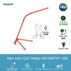 Đèn bàn LED Philips Geometry 66046 - Màu Đỏ