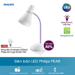 Đèn bàn Philips Pear - tím