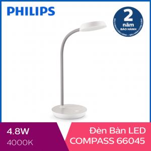 Đèn bàn Philips LED Compass 66045 4.8W (Trắng)
