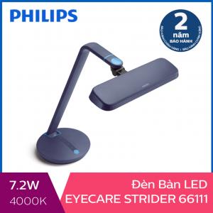 Đèn bàn Philips LED EyeCare Strider 66111 7.2W (Xanh)