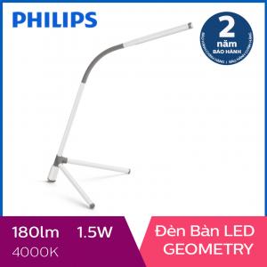 Đèn bàn Philips LED Geometry 66046 1.5W (Trắng)