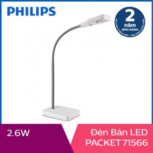 Đèn bàn Philips LED Packet 71566 2.6W (Trắng)
