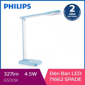 Đèn bàn Philips LED Spade 71662 4.5W (Xanh dương)