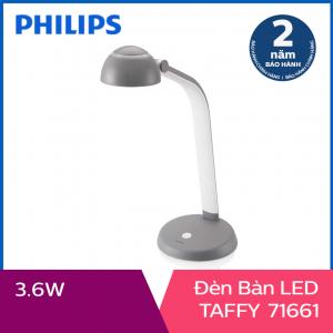 Đèn bàn Philips LED Taffy 3.6W (Xám đậm)