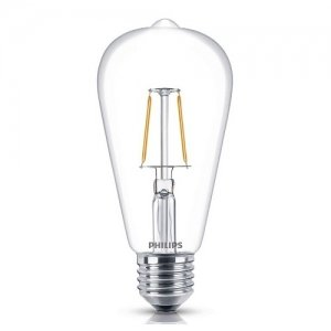 Đèn Led Philips Fila 4.3W-40W E27 2700K ST64