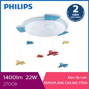 Đèn trần phòng trẻ em Philips LED Aeroplane 77501 22W