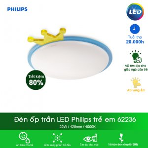 Đèn trần phòng trẻ em Philips Princess LED 62236