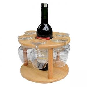 Kệ Đựng Ly Và Chai Rượu Gỗ Đức Thành 27041