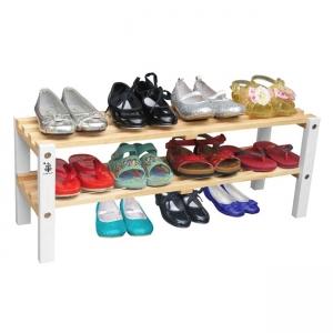 Kệ giày trẻ em 2 tầng chân màu trắng Gỗ Đức Thành 48372K