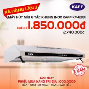 Máy hút mùi bếp 6 tấc khung INOX KAFF KF-638I