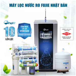 Máy lọc nước RO FUJIE RO-1000 CAB HYDROGEN (10 cấp lọc - Bao gồm tủ cường lực)
