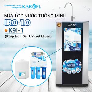 Máy lọc nước RO KAROFI iRO 1.1  K9I-1 (9 cấp lọc - Đèn UV diệt khuẩn)