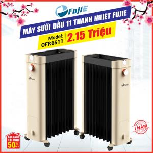 Máy sưởi dầu 11 thanh nhiệt FujiE OFR6511