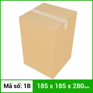 Thùng Carton gói hàng kích thước 185x185x280mm không in