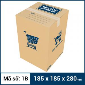 Thùng Carton gói hàng kích thước 185x185x280mm mẫu giỏ hàng