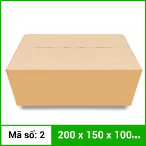 Thùng Carton gói hàng kích thước 200x150x100mm không in
