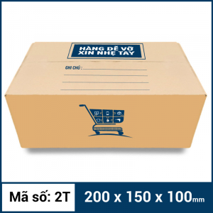 Thùng Carton gói hàng kích thước 200x150x100mm mẫu giỏ hàng