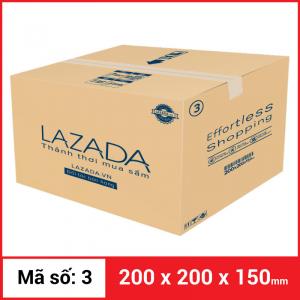 Thùng Carton gói hàng kích thước 200x200x150mm