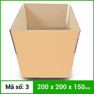 Thùng Carton gói hàng kích thước 200x200x150mm không in