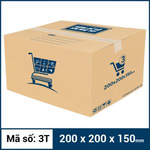 Thùng Carton gói hàng kích thước 200x200x150mm mẫu giỏ hàng